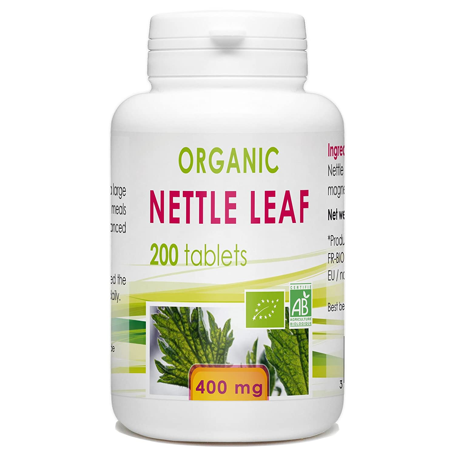 Nettle Leaf 200 Organic Tablets 400 mg