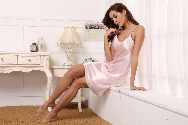 75addb10d Aibrou Women Satin Negligee Babydoll Lingerie Night Dress Lingerie  Nightdress Sleepwear Underwear Short Strap Dress V Neck AM16062703