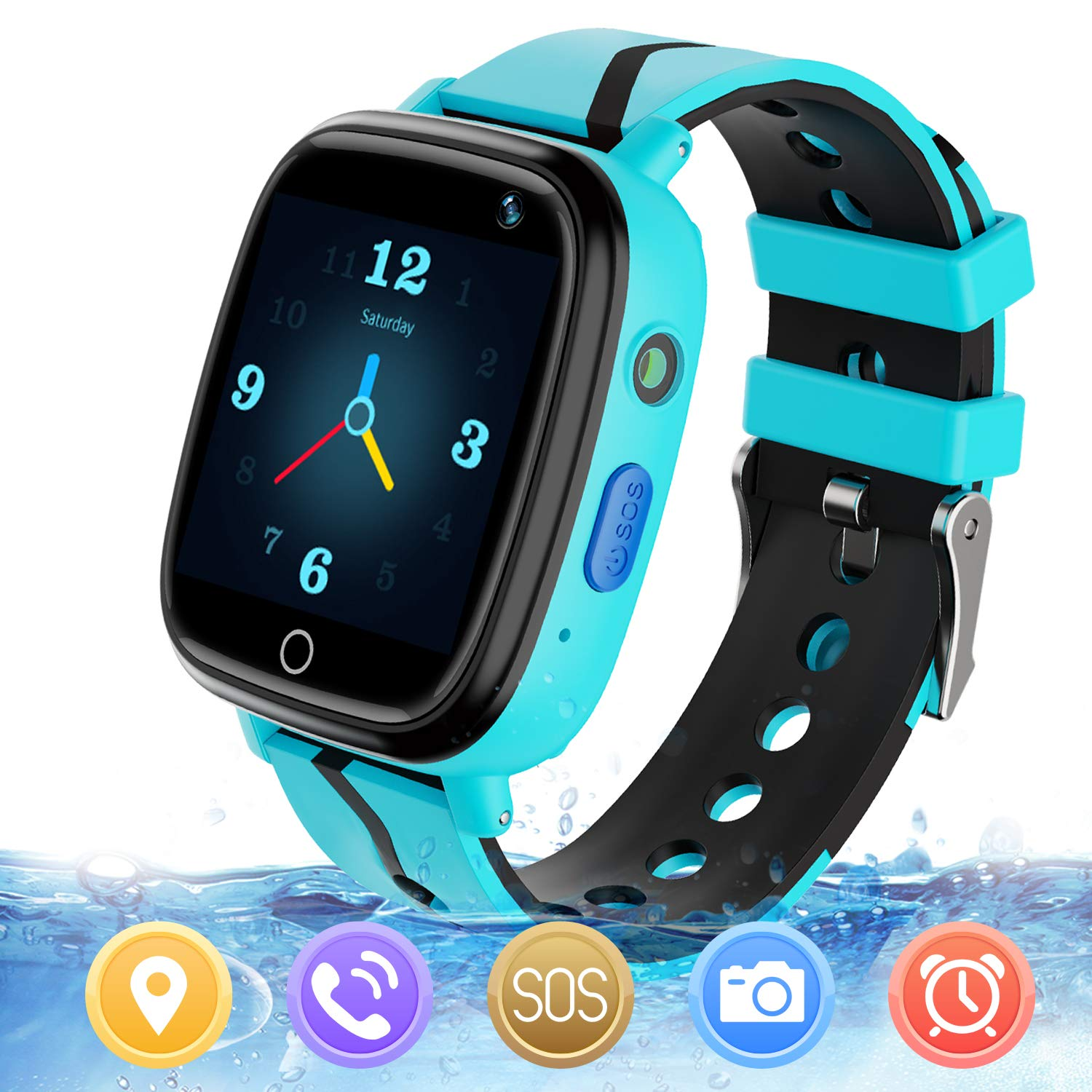 MeritSoar Kids Smart Watch with GPS Tracker SOS Camera Game 1.44 inch Touch Screen Sport Smartwatch Camera Cell Phone Girls Boys for iOS & Android ...