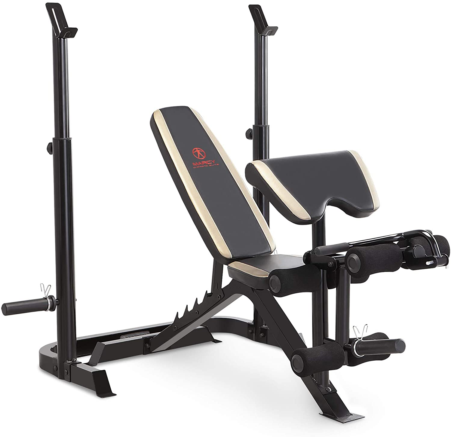 Marcy MD-879 Adjustable Olympic Weight Bench with Leg Developer and Squat Rack