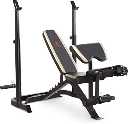 Workout Bench Equipment Rack Olympic Fitness Olympics Weight Lift Preacher Pad