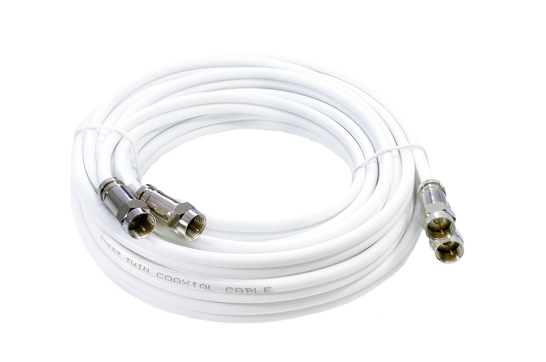 Mast Digital YCAB03K1 - Cable coaxial de 5 metros, blanco: Amazon.es: Electrónica