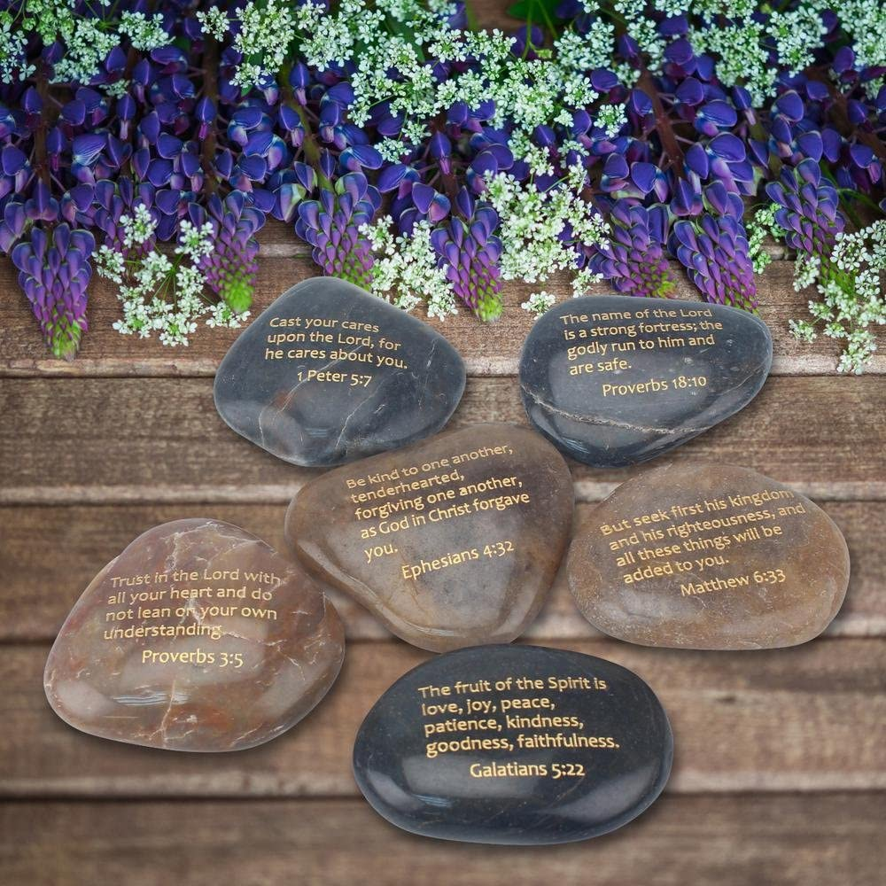 Details about  /Stonebriar Inspirational Scripture Stones Religious Gift Ideas for Friends and