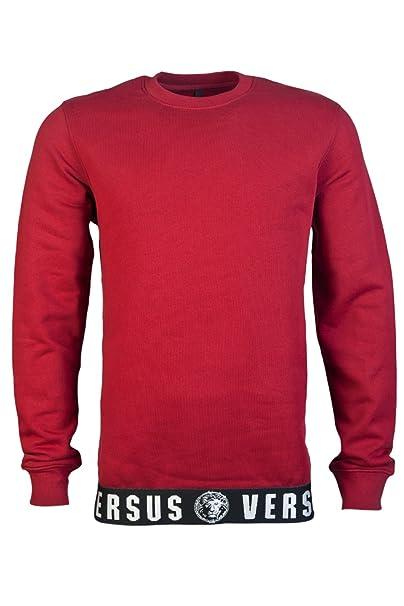 Versace - Sudadera - Sudaderas - Manga Larga - para hombre rojo rosso Medium: Amazon.es: Ropa y accesorios