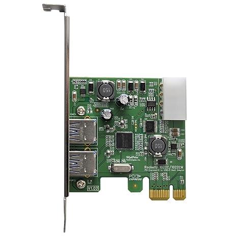 High Point 2-Port USB 3 0 2 0 x 1 HBA PCI-Express RocketU 1022C