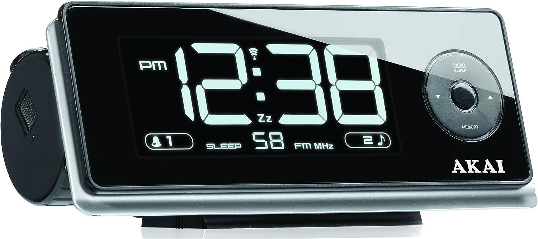 Akai AR270P - Radiodespertador con proyector de la hora (Digital ...