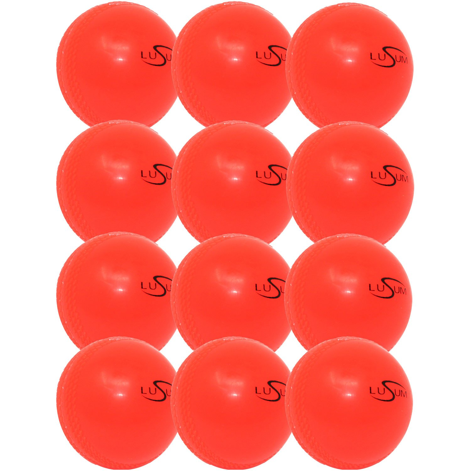 1 Dozen Lusum SoftAir Cricket Training Balls (Windballs)
