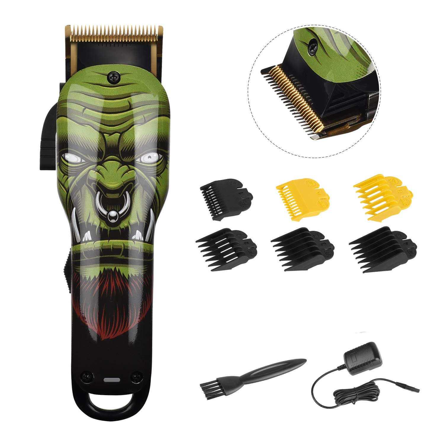 Professional Cordless Rechargeable Hair Clippers for Men Built-in 2000mAh Lithium Ion Professional Barber Supplies Hair Trimmer Hair Cutting Machine (hair trimmer)