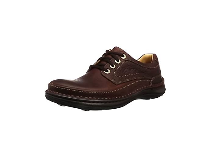 TALLA 46 EU. Clarks Nature Three, Zapatos de Cordones Derby para Hombre