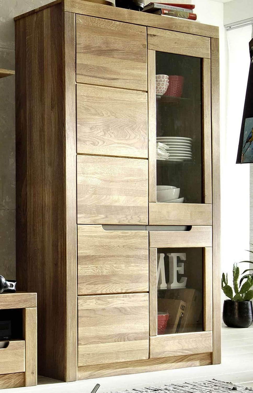 Main Möbel Vitrine 110x191cm 'Wien' Wildeiche geölt