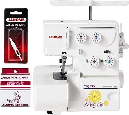 Janome Magnolia 7034D 3 /& 4-Thread Serger w//Bonus Package!