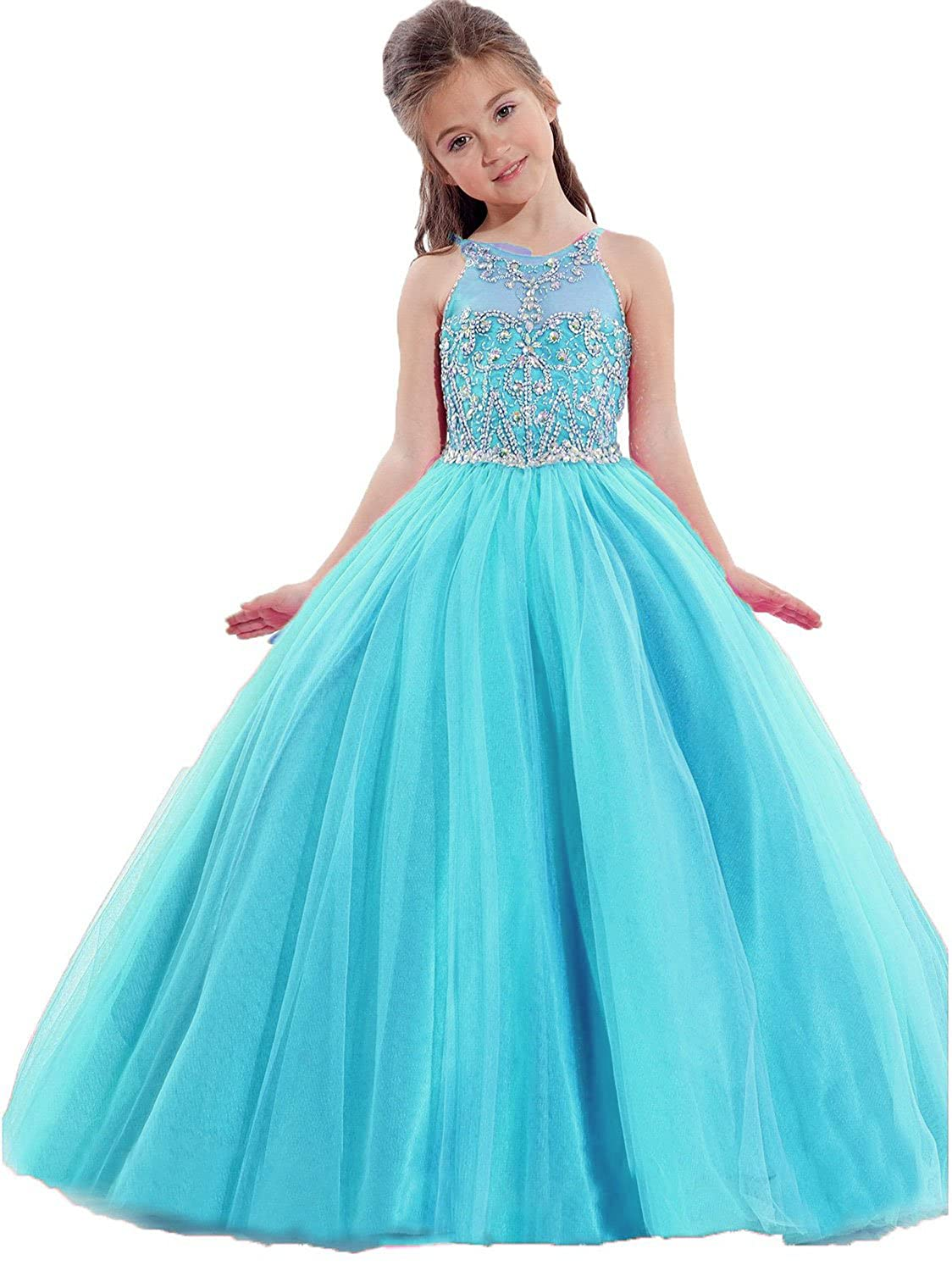 Amazon.com: Pageant Dresses Little Girls Birthday Party Dresses ...
