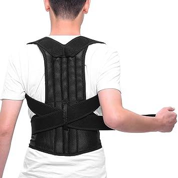 ENKEEO Corrector de Postura para Espalda Hombro Ajustable y Respirable (L, 95-110cm): Amazon.es: Deportes y aire libre