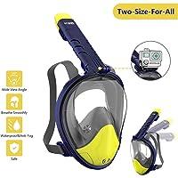 c92fb4f8eda9 WOTEK Maschera Snorkeling(Versione Aggiornata), Maschera Subacquea  Professional 180 ° Vista Panoramica,