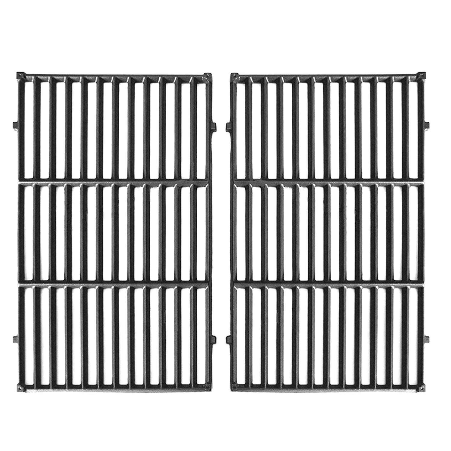 Hongso 7524 Cast Iron Cooking Grid Grates Replacement for Weber Genesis E/S, 300 Series Gas Grill 7528, (19.5'' x 13''), 2-Pack, PCG524 by Hongso
