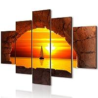 Lupia Vogue quadro su legno 5 pezzi Finestra Sul Tramonto 66x115 cm