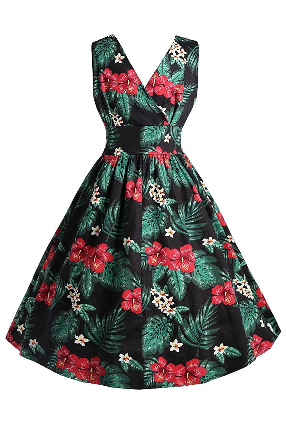 Babyonlinedress® Damen Ärmellos Pin up Vintage Kleid Abendkleider ...