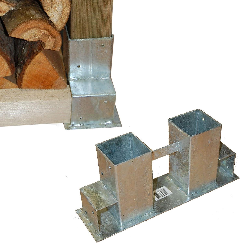 2 St/ück Holzstapelhilfe Feuerverzinkt stabile Holz Stapelhilfe Stapelhilfe Holzstapelhalter Brennholz Kaminholz Gestell Holz