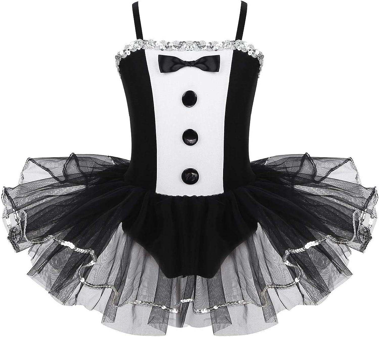YiZYiF Vestido Bailarina Niñas Vestido Tutú Ballet Maillot Danza ...