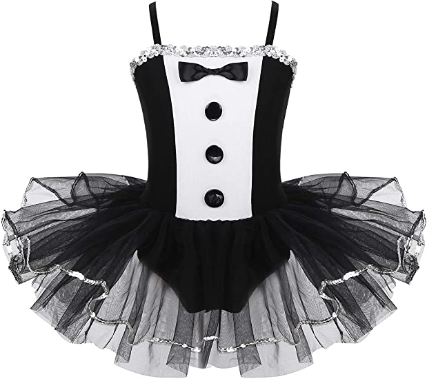 MSemis Vestido Tutú Danza para Niñas Maillot Ballet Falda Bordado ...