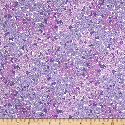 [Kaufman London Calling Lawn Floral Blend Purple Fabric By The Yard] (Lawn Blend)