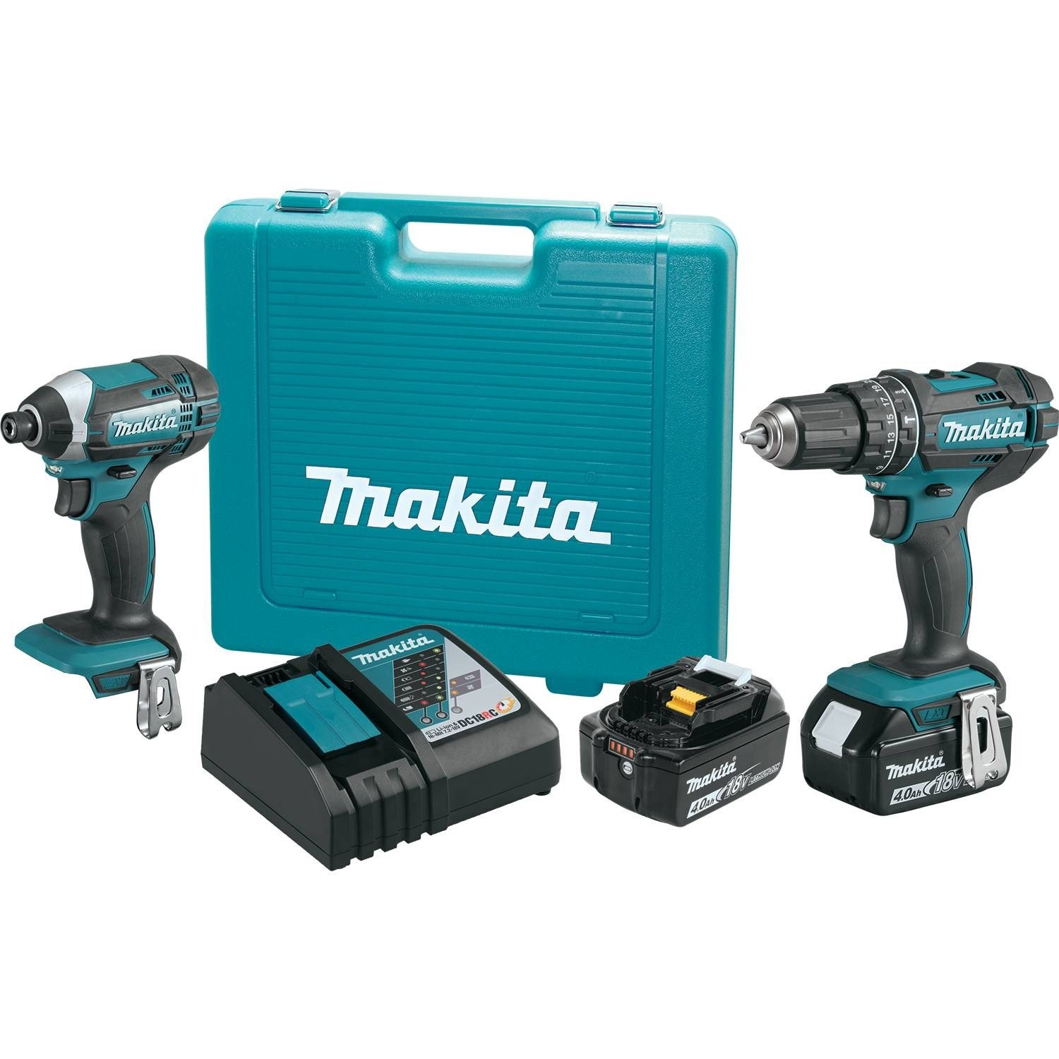 Makita XT261M 2 Piece 18V Lithium-Ion 4.0 Ah Cordless Combo Kit by Makita B01FSFZCFY