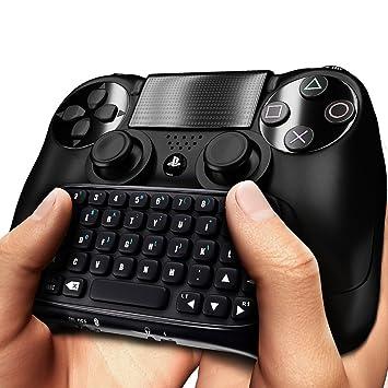 Teclado Dland PS4 Wireless Mini Bluetooth - Mejor Adaptador de teclado para controlador DualShock para PlayStation