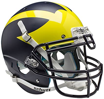amazon com schutt ncaa michigan wolverines on field authentic xp