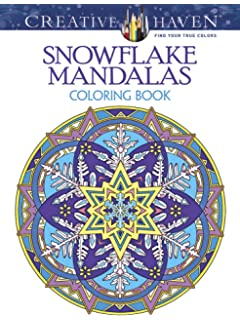 creative haven snowflake mandalas coloring book adult coloring - Christmas Mandalas Coloring Book