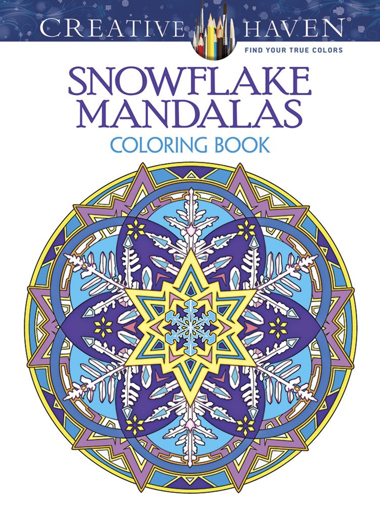 Creative Haven Snowflake Mandalas Coloring Book Creative Haven ...