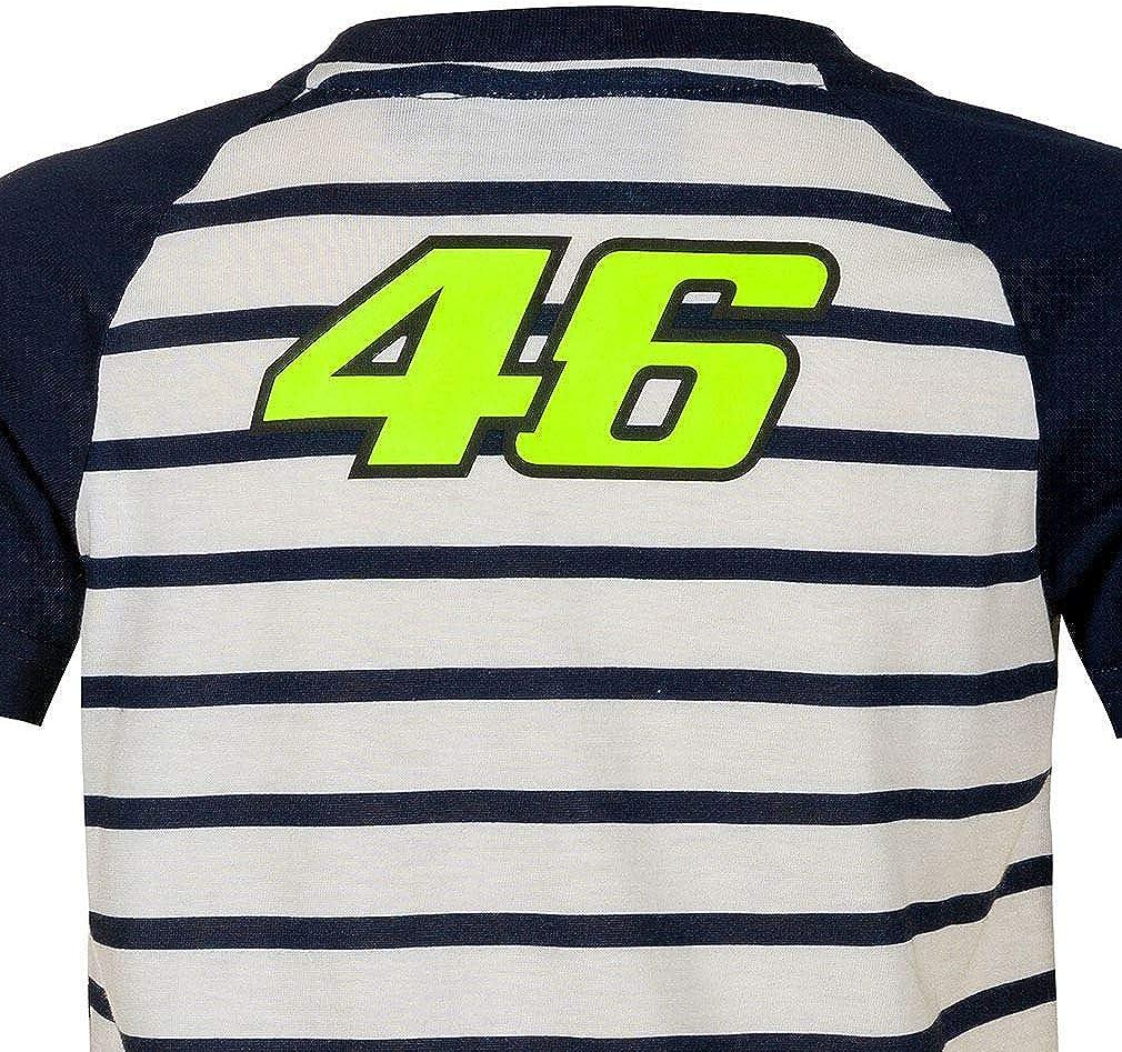VALENTINO ROSSI T-Shirt Enfant VR46 Moto Officiel MotoGP Blanc 8//9 Ans