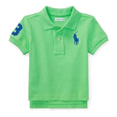 62d8de34ad1c3 Amazon.com  Ralph Lauren Baby Boy Big Pony Cotton Mesh Polo Shirt ...