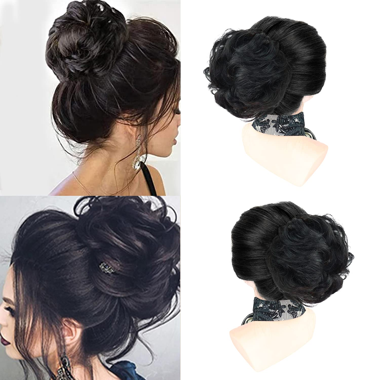 Hikeiyu 100% Human Hair Messy Bun Hair Pieces Extensions Scrunchies Updo Chignons