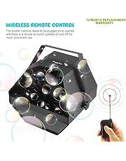 Theefun Máquina Profesional de Burbujas Control automático Remoto e inalámbrico con Alto Rendimiento, Mecanismo automático de soplado para Uso en Interiores o al Aire Libre