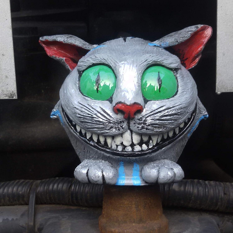 Linascreatures Schutzkappe Anhängerkupplung Katze Silber Grau Figur Einzigartige Kappe Kupplungskappe Abdeckkappe Auto