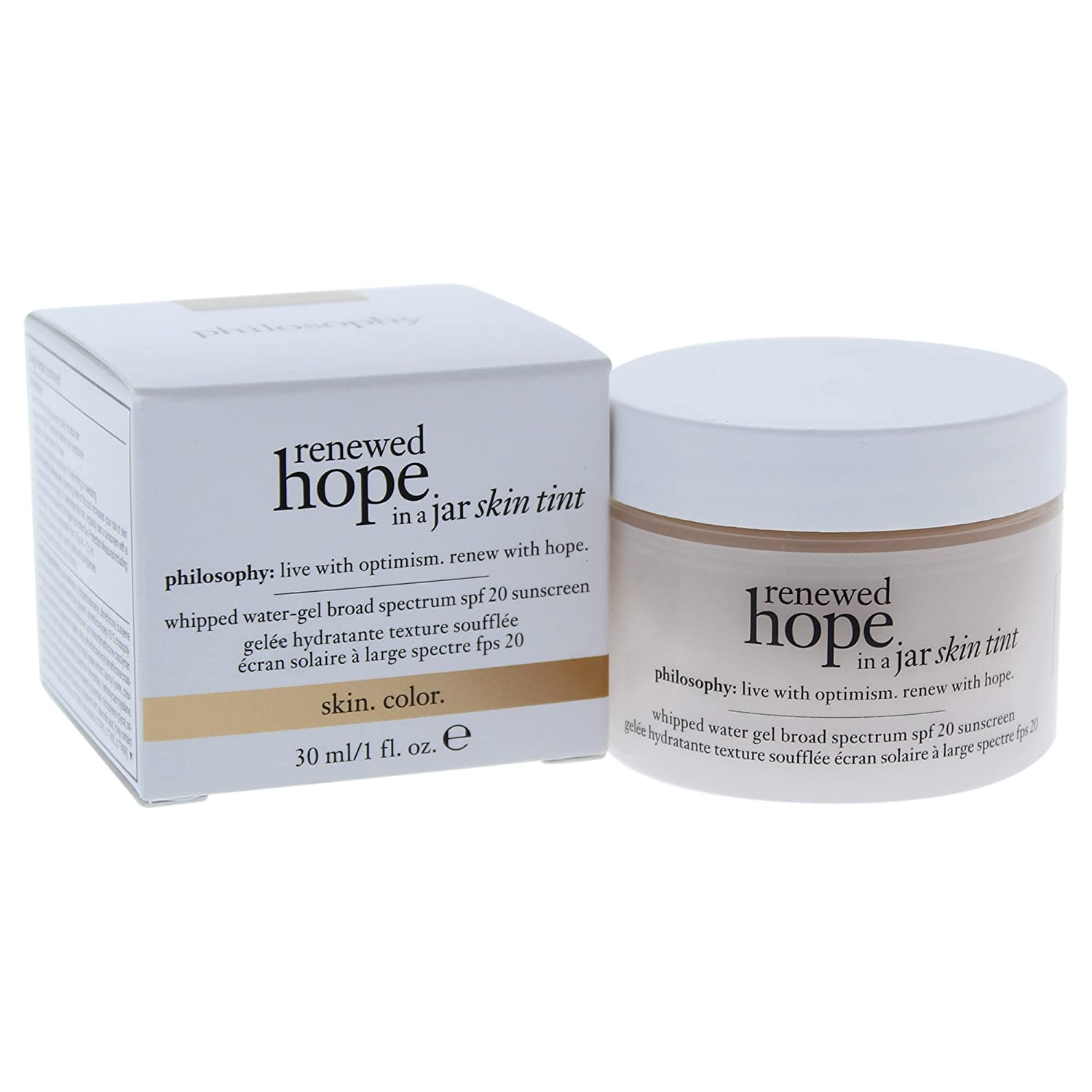 Philosophy Renewed Hope in a Jar Skin Tint Spf 20, 5.5 Beige for Women, 1 Ounce PerfumeWorldWide Inc. Drop Ship 3614223411351