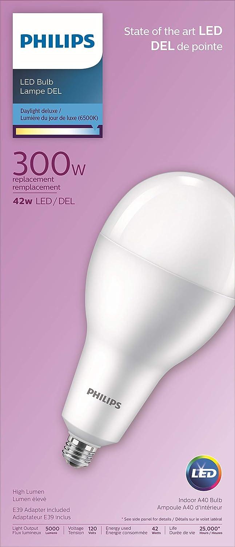4x Philips LED 40W House Clear Bulb Lamp E27 Lumen 2700K 6.5 W Warm White 470lm