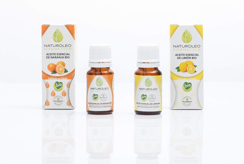 Naturoleo Cosmetics BIO - Pack Aceites Esenciales de Naranja y Limón, 10 + 10 ml: Amazon.es: Belleza