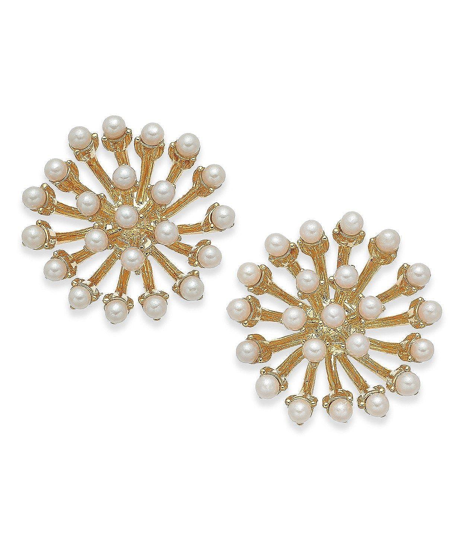 f7c20d102b9f7 Amazon.com: kate spade new york Gold-Tone Imitation Pearl Sputnik ...