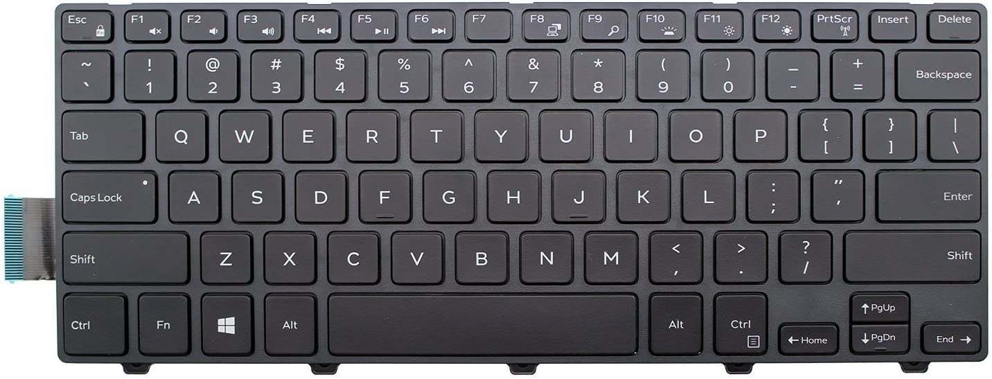 Fit P//N PK1313P4A00 50X15 050X15 CN-050X15 Black Looleking US Layout with Frame Non-Backlit Laptop Keyboard for Dell Inspiron 14 5447