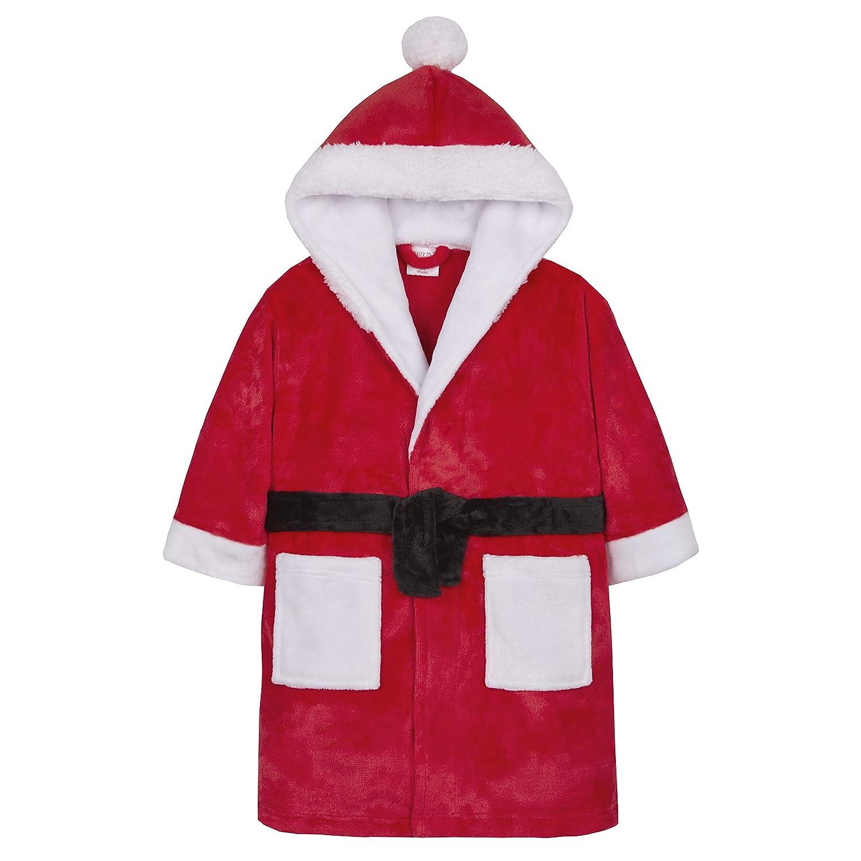 Metzuyan Boys & Girls Santa Hooded Christmas Dressing Gown