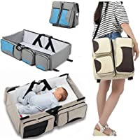 Gaorui Baby 3 in 1 Portable Bassinet Diaper Bag Changing Station with Fitted Sheet Travel Crib Bed for Babies Multi-Functional Bassinet Travel Infant Bed