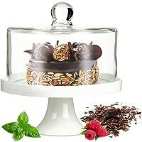 Campana con base para tartas de porcelana Queso