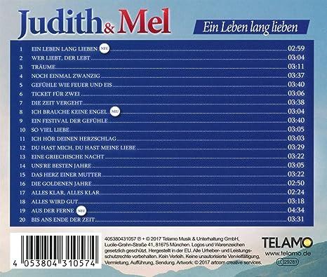 Ein Leben Lang Lieben Judith Mel Amazonde Musik