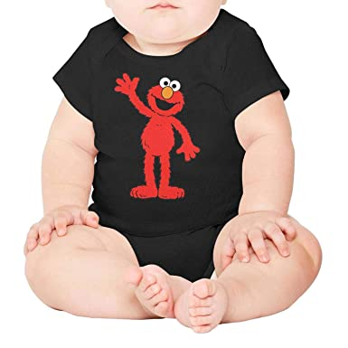 99d5b033a Amazon.com: Baby Girls Trottie Short Sleeve Cute-red-Sesame-Street-elmo-Muppet-Funny  Organic Cotton Romper: Clothing