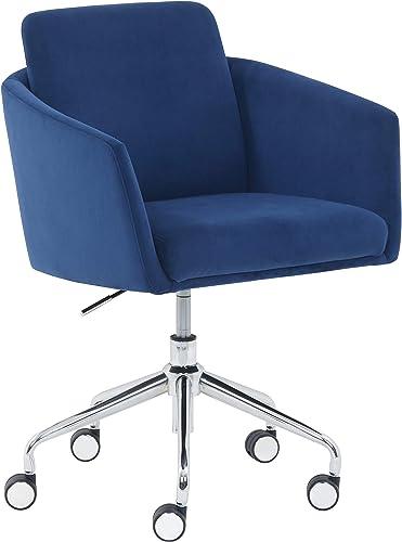 Amazon Brand Rivet Bertha Mid-Century Velvet-Upholstered Swivel Office Chair