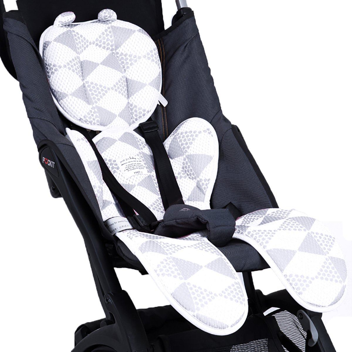 Grey Luchild Pushchair Liner Summer Pram Buggy Stroller Liner Universal Breathable Cool and Comfortable for Newborn Baby