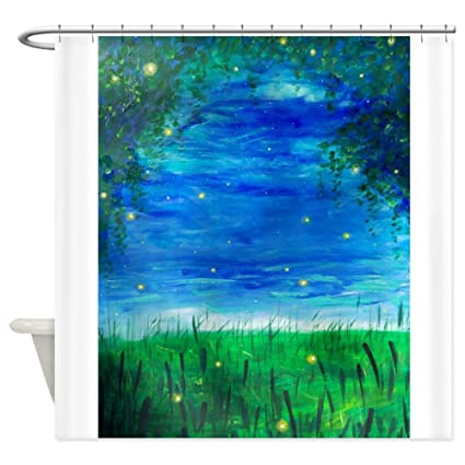 Image Unavailable Not Available For Color CafePress Firefly Shower Curtain