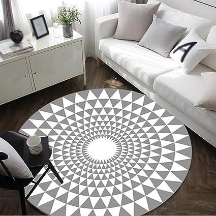 Creative Light Mode Tapis Rond En Noir Et Blanc Salon Table Basse