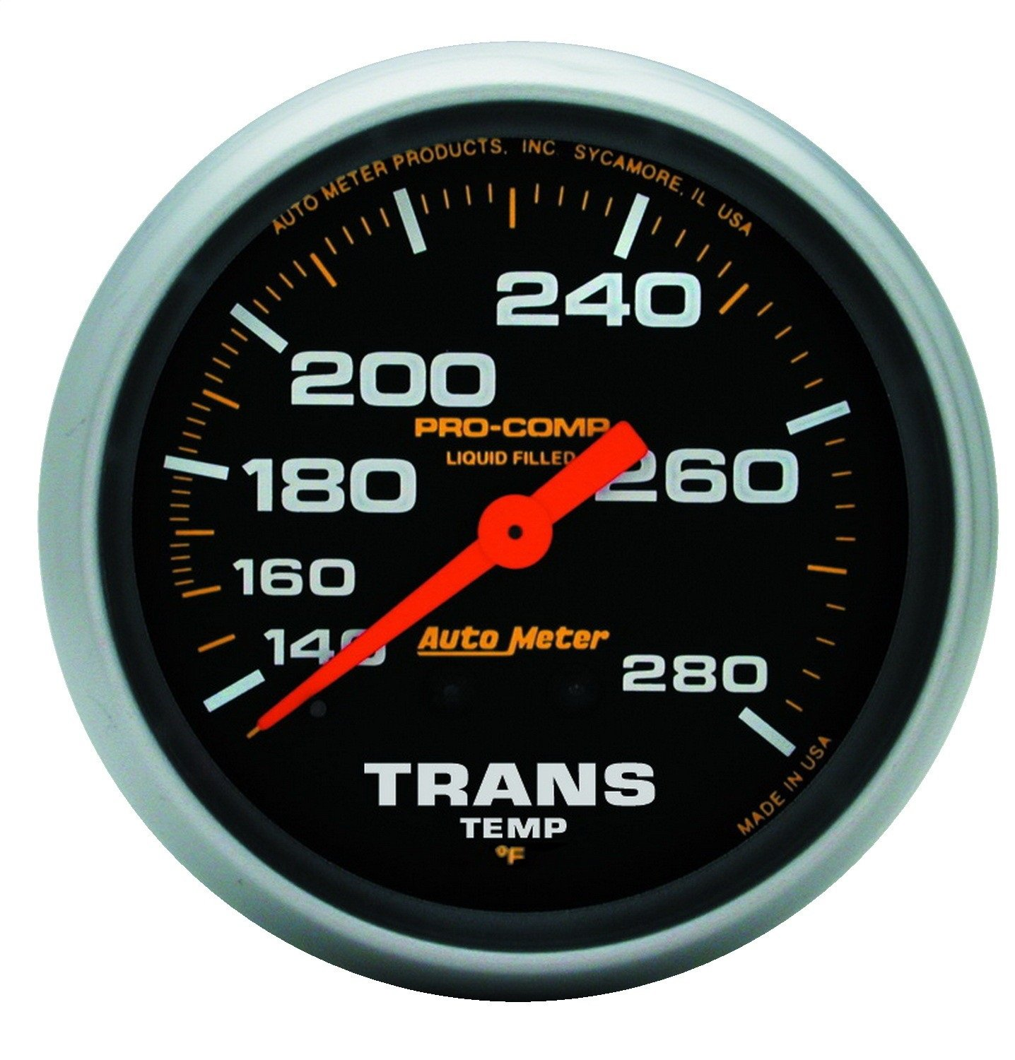 Auto Meter 5451 Pro-Comp Liquid-Filled Mechanical Transmission Temp Gauge by AUTO METER